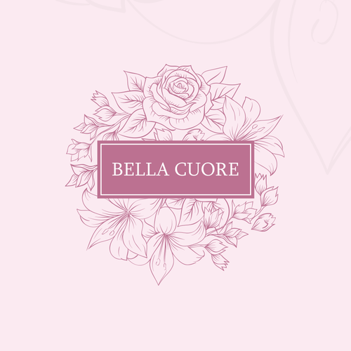 Wreath design with the title 'Cosmetics shop logo design'