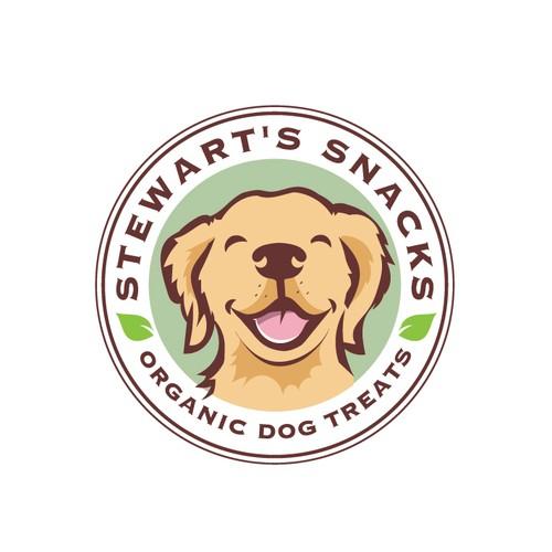 Animal shelter logo with the title 'Organic Dog Treats Logo'