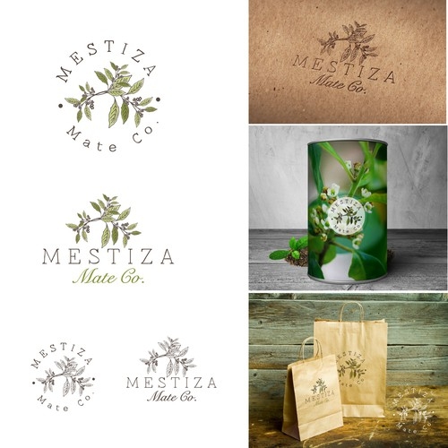 Tea leaf logo with the title 'Mate Tea'