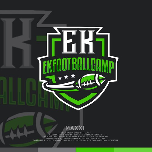 Football design with the title 'Football camp logo'