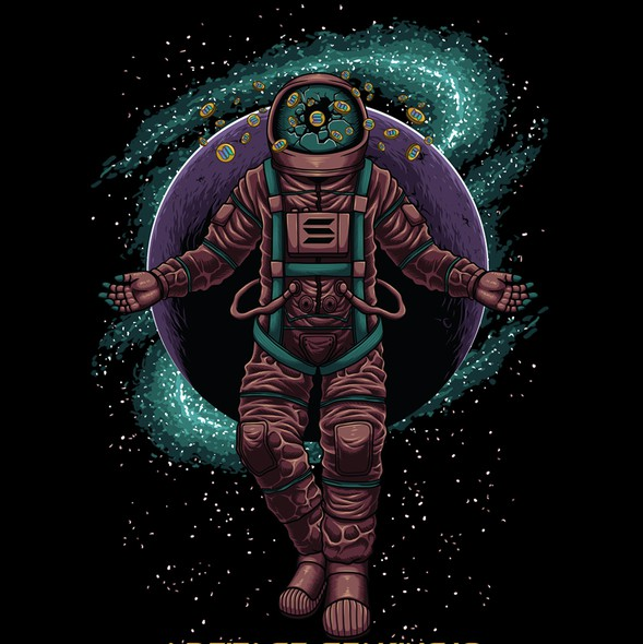 Planet t-shirt with the title 'Artifact Staking'