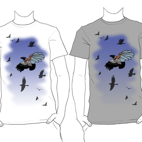 Disability design with the title 'Yooralla/Dangerfield disability t-shirt design'