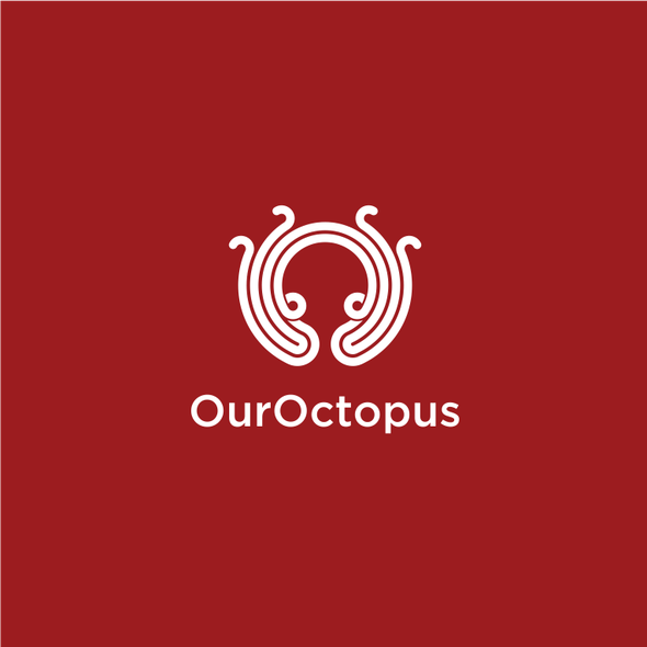 Party brand with the title 'OurOctopus - Logo for a party planning company'