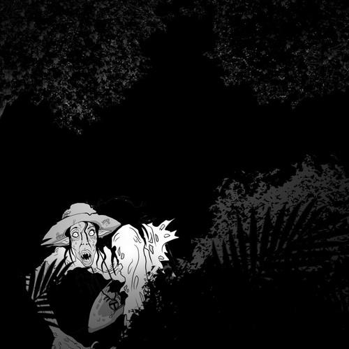 Horror artwork with the title 'Ominous horror novel needs illustration '