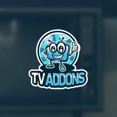 App logo with the title 'Nice and happy character for streaming app logo'