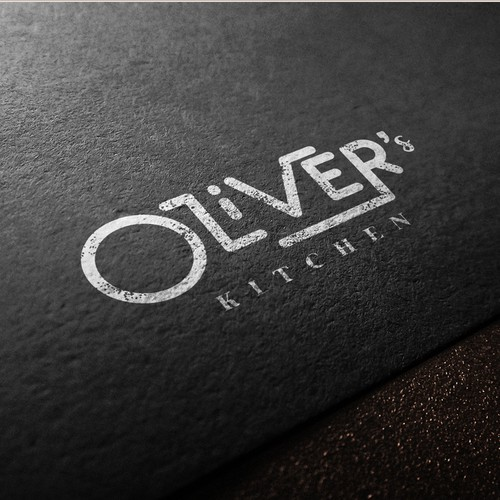 Textured design with the title 'Playful Wordmark for high-end kitchen products'