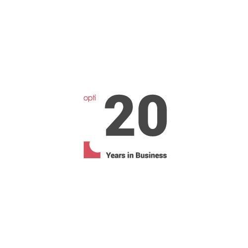 Crisp logo with the title '20 anniversary logo'