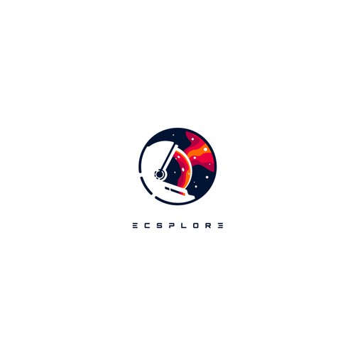 Spaceship logo with the title 'ecsplore'