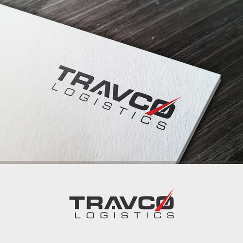 Logistics brand with the title 'Travco Logistics'