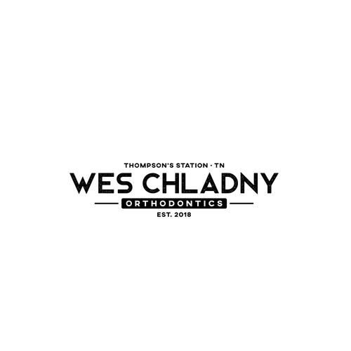 Simple modern logo with the title 'Vintage logo concept for Wes Chladny Orthodontics'