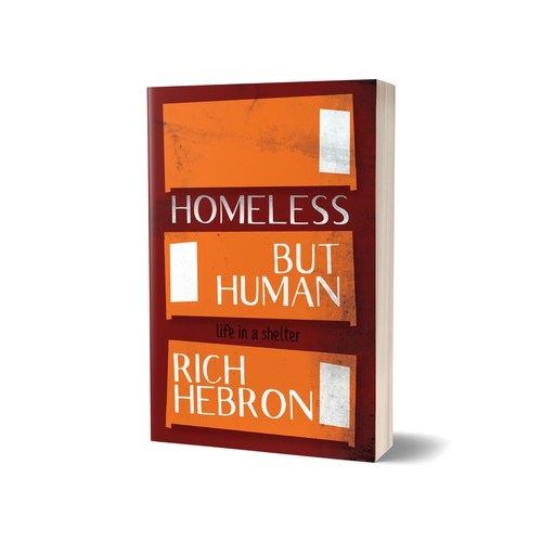 Bed design with the title 'Homeless But Human Book Cover'