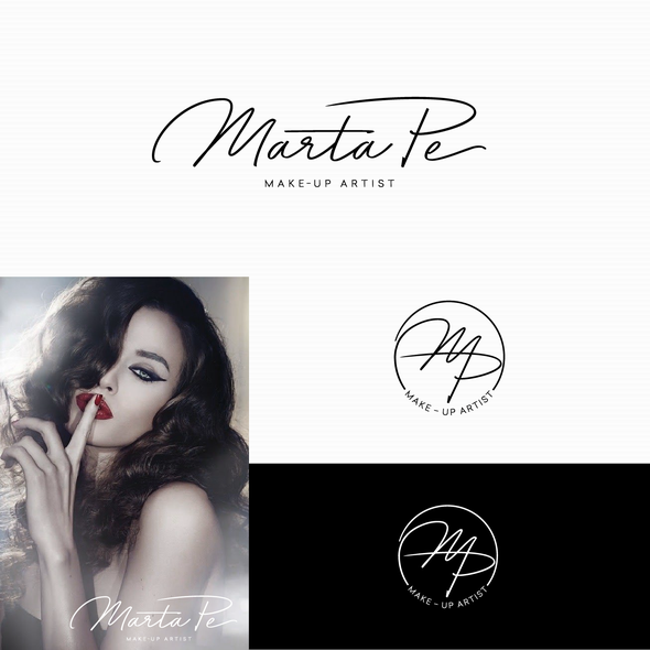 Makeup logo with the title 'Logo for Marta Pe'