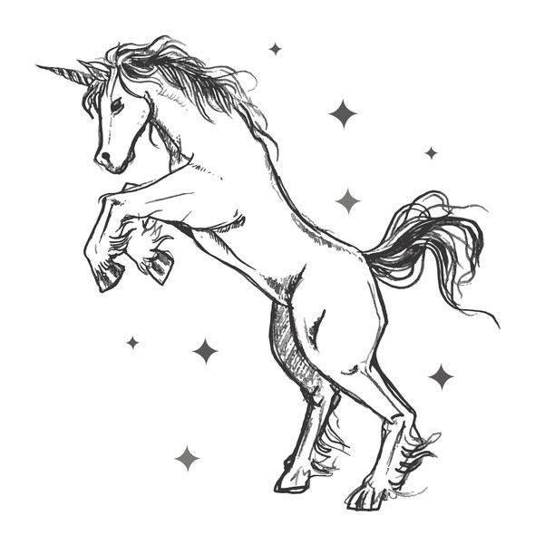 Unicorn design with the title 'Dancing Unicorn'