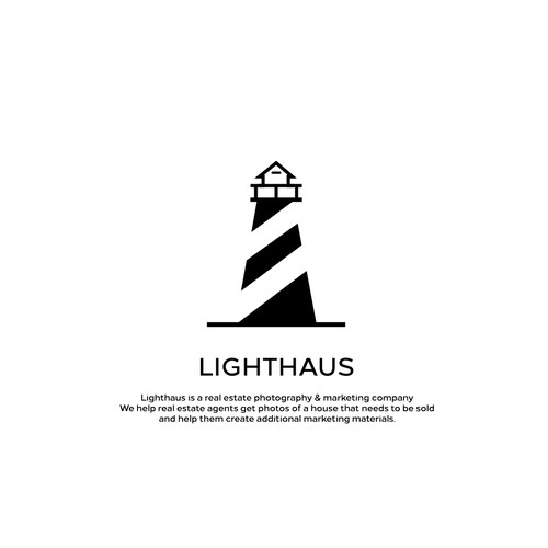 Lighthouse design with the title 'Lighthaus Logo'