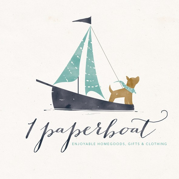 Souvenir design with the title 'dog n boat'