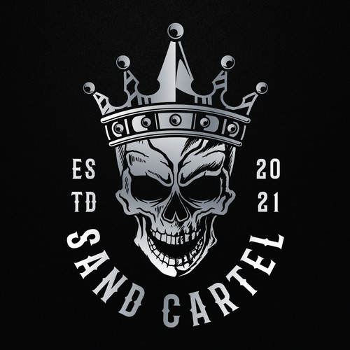 Skull design with the title 'Sand Cartel'