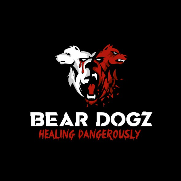 Bear brand with the title 'Bold and Fierce Logo for a Music Artist'