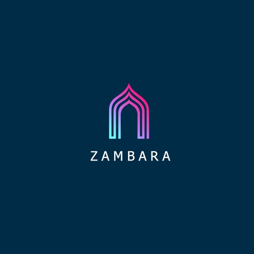 Bright color design with the title 'Modern and innovating logo concept for  Zambara'