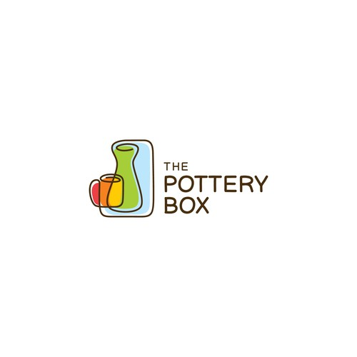 Clay logo with the title 'Logo concept for The Pottery Box'