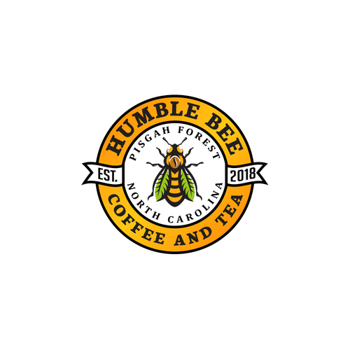 Tea cup logo with the title 'Humble Bee'