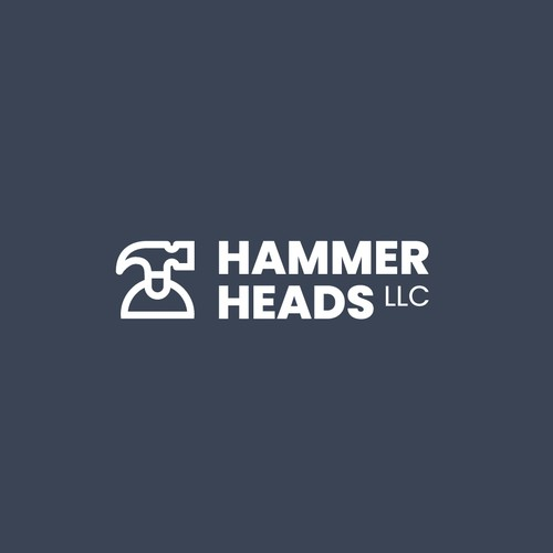 LLC logo with the title 'Clean Modern Logo for Hammer Heads'