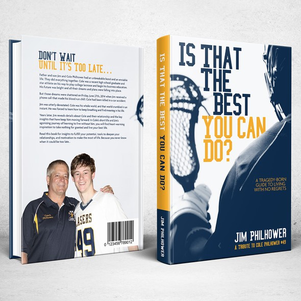 Lacrosse design with the title 'Book Cover for Is That The Best You Can Do?'