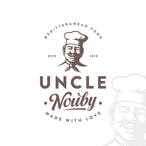 Seafood design with the title 'Uncle Nouby'