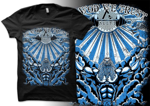 Angel wing design with the title 'A regular gig creating T-Shirts for a CrossFit company'
