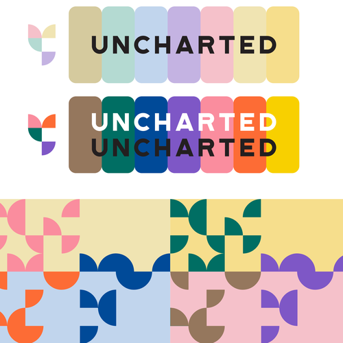 Pantone design with the title 'Color Palette for Nonprofit'
