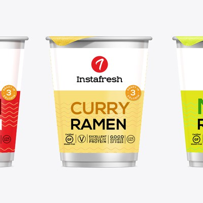 Product packaging for Ramen food line