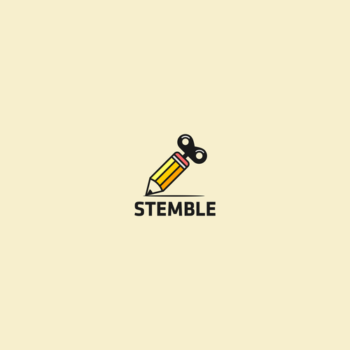 Fun brand with the title 'Logo concept for Stemble'