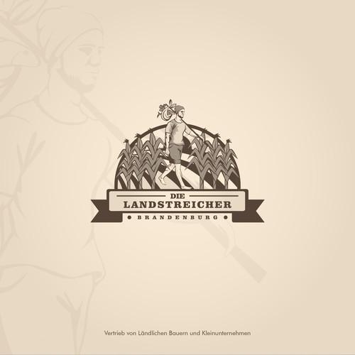 Field logo with the title 'Classic logo for Die Landstreicher Brandenburg'