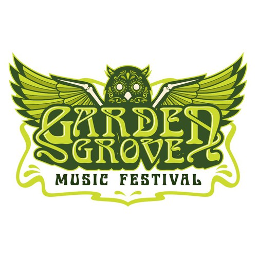 Festival logo with the title 'Music Festival Logo Design'