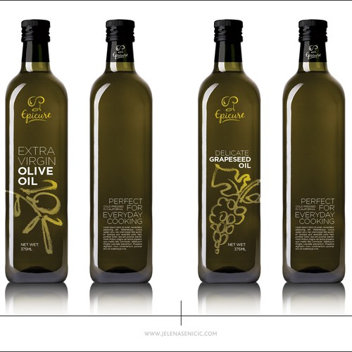Olive oil label with the title 'Olive oil label'