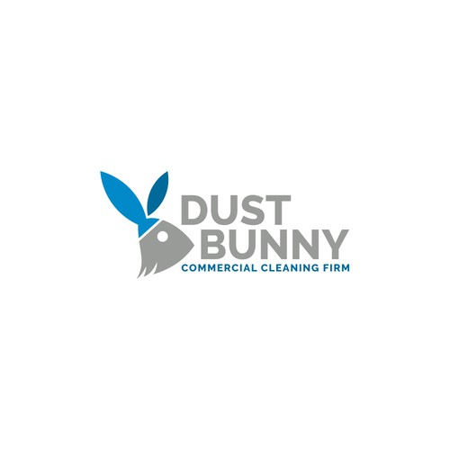 Rabbit logo with the title 'Logo design for Cleaning Service'