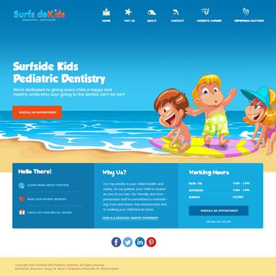 Web design for Kid's Dental Practice