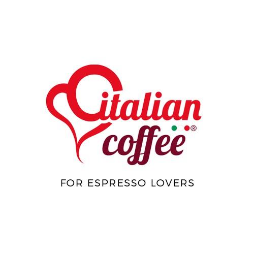 Italian logo with the title 'Italian Coffee '