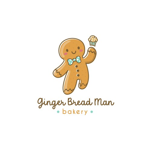 Kawaii logo with the title 'Ginger bread man'