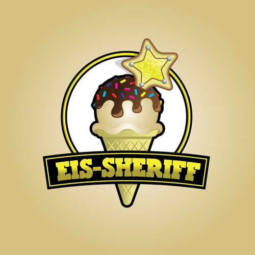 Sprinkles design with the title 'Tasty Sheriff Ice cream'