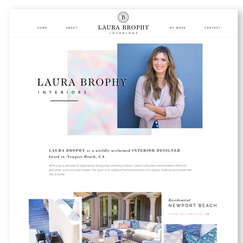 Geometric website with the title 'Bold website concept for stylish interior design company'