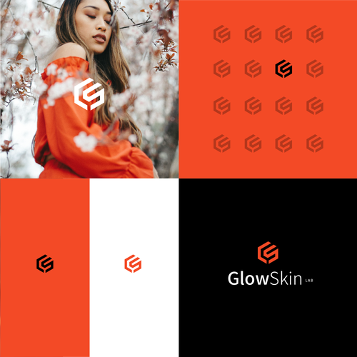 Facial logo with the title 'GLOWSKIN'