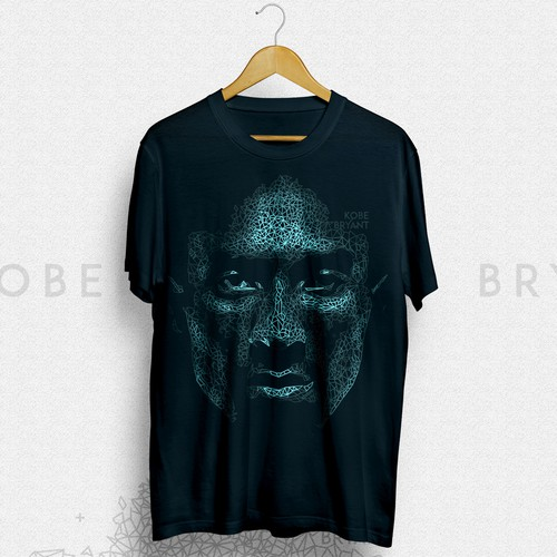 Basketball design with the title 'KOBE BRYANT'