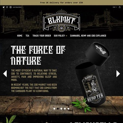 Vintage website with the title 'BLKMKT Web Store'