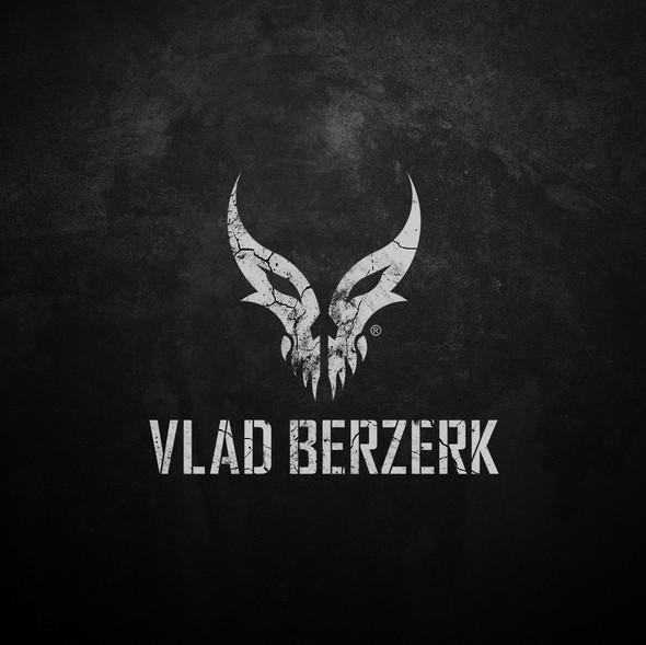 Aggressive logo with the title 'Logo design for Vlad Berzerk'