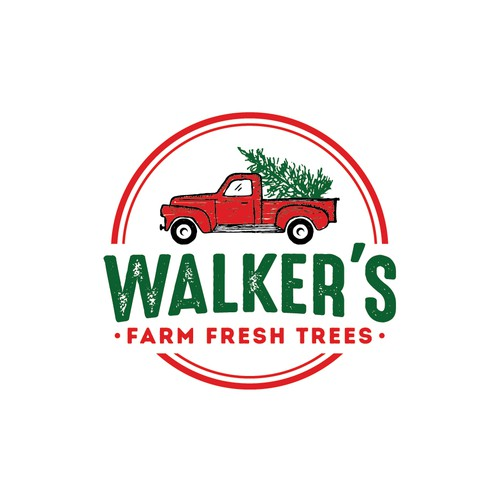 Christmas tree logo with the title 'Walker's '