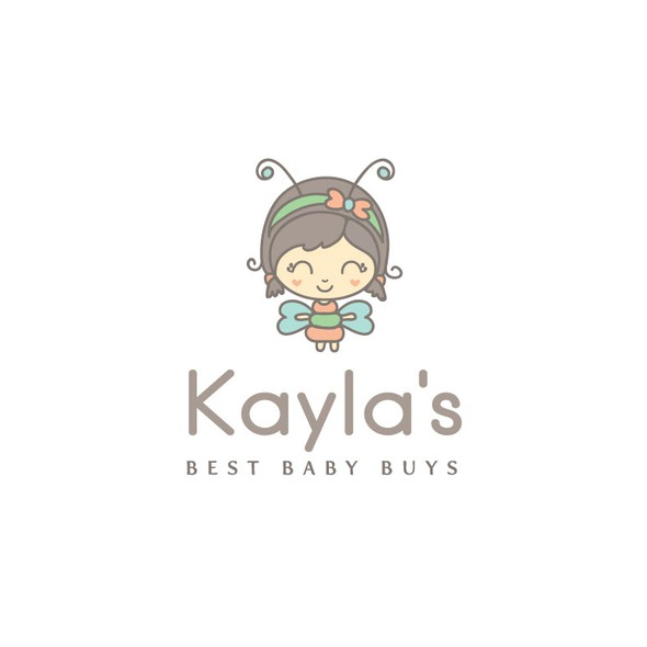 Kid's clothing logo with the title 'logo design for an online Baby Shop'