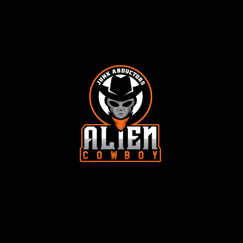 Cowboy hat logo with the title 'ALIEN COWBOY LOGO'