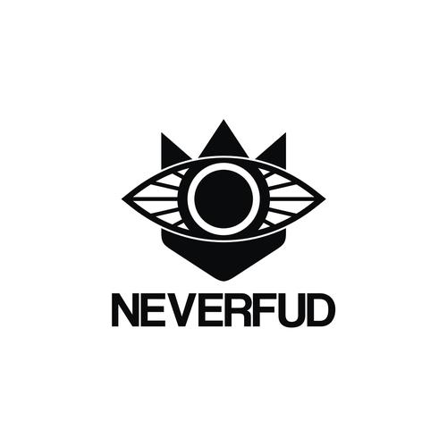 Streetwear logo with the title 'NEVERFUD'