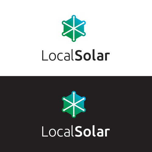 Kingdom logo with the title 'Symbolic logo for solar energy local service'