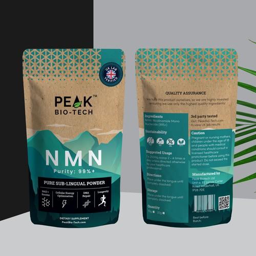 Peak design with the title 'PEAK BIOTECH NMN'